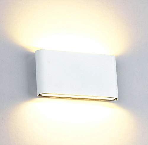 Louvra Apliques de Pared 12W Lámpara de Pared Luz Ambiente Lámpara de Dormitorio, Escalera, Pasillos, Porche, Patio, Jardín, Blanco Cálido: Amazon.es: Iluminación