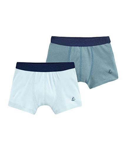 - Petit Bateau Boy's Stretch Cotton-Linen Boxer Shorts Gift Boxed- Set of 2 Sizes 2-12 Style 48636 (Size 5 Style 48636 Boys)