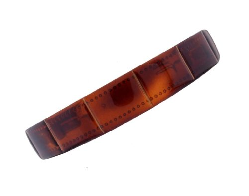 Caravan Boxed Designed Headband In Classic Tortoise Shell Color With Hand Painted Gold Decoration