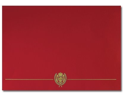 Red Classic Crest Certificate Cover