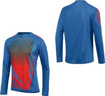 Adidas- Camiseta deportiva de manga larga AdiZero. Diseño bonito. Extravagante. Camiseta de