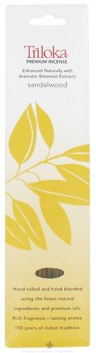 UPC 726078100281, Triloka - Premium Incense Sandalwood - 10 Stick(s)