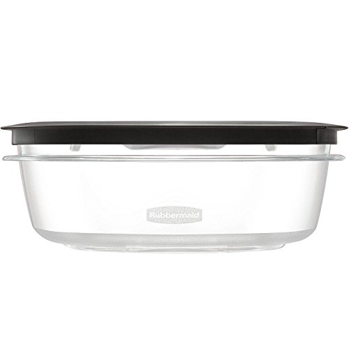 (Rubbermaid Premier Food Storage Container, 9 Cup, Gray, Pack of 2)