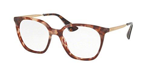 Prada Women's PR 11TV Eyeglasses Pink Havana - Red Glasses Prada