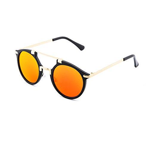 Negro Gafas de sol TWIG degradadas Naranja espejo DOYLE hombre mujer 1qv18