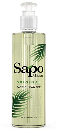 Sapo All Natural Face Cleanser. Organic and Antiaging Facial Cleanser. A Daily Face Wash for All Skin Types with vitamin B, C and E. Great for Combination Skin. Cruelty Free and Made in the US. 8.5 oz