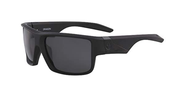 fc9e905f3331f Sunglasses DRAGON DR DEADLOCK 002 MATTE BLACK WITH GREY LENS at Amazon  Men s Clothing store