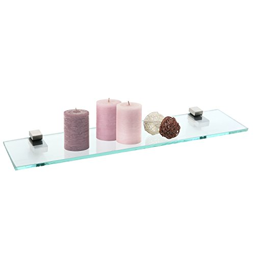 Modern Wall Mounted Rectangular Clear Glass Floating Disp...