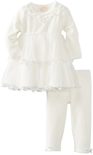 Biscotti Baby Girls' Tippy Toes Dress and Legging Set