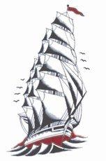 Tinsley Transfers 1920 Ship Temporary Tattoo ()