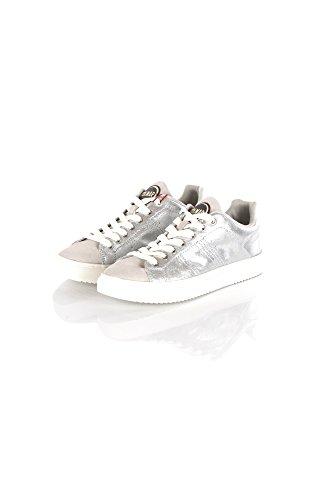 Espadrilles Argent Argento Blanches Lacets Colmar Chaussures Brasou Blanc OxCRRX