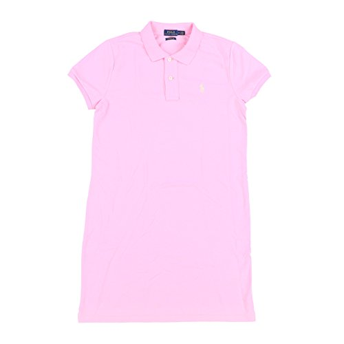 Polo Ralph Lauren Womens Mesh Mini Dress (Medium, Taylor Rose Pink) ()