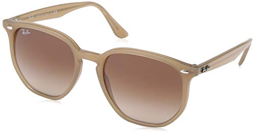 Ray-Ban RB4306 Hexagonal Sunglasses, Opal Beige/Brown Gradient Dark Brown, 54 mm (Ray-ban Leopard)