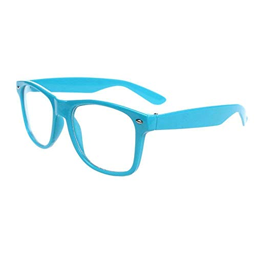 FancyG Classic Retro Fashion Style Clear Lenses Glasses Frame Eyewear - Sky Blue -
