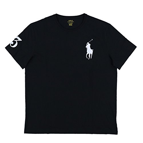 (Polo Ralph Lauren Mens Crew Neck Big Pony T-Shirt (XL, Black))