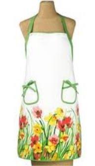 Vera Tulips & Daffodils Full Apron ~ 100% Cotton