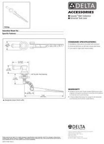 Delta Faucet 79760-RB Cassidy Tank Lever-Standard Handle Venetian Bronze