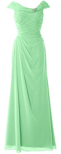 Sleeves the Bride Mother Dress Minze Boat Cap Long MACloth of Formal Gown Women Neck 1pwaaZ