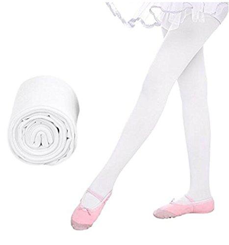 Huertuer cute Ballet danza collant calze collant leggings per ragazze (bianco)
