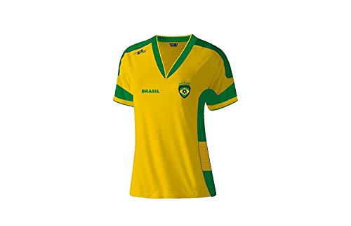 Arza Sports Brazil Slim Women Soccer Jersey (Small)