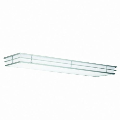 Kichler 10802SI Pavilion Linear Ceiling 52-Inch Fluorescent, Silver