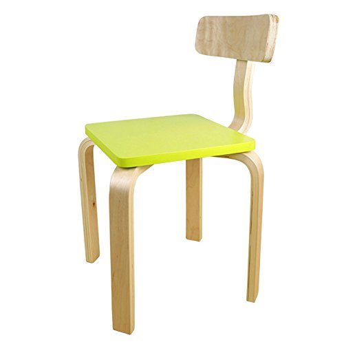 03 Paint Protection - WGXX Chair ZZD-002 Solid Wood Modern Creative Birch Environmental Protection Paint Can Be Assembled Multifunction Children's Wooden Chair Environmental Rating (Color : 03)