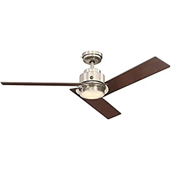 Ge Daelyn 54 Quot Brushed Nickel Led Indoor Ceiling Fan With