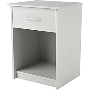 Mainstays Nightstand Side End Table, Multiple Finishes (White)