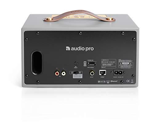 Audio Pro Addon C5 Gris Altavoz - Altavoces (Inalámbrico y alámbrico, Bluetooth/RCA/3.5mm, 50-20000 Hz, Gris)