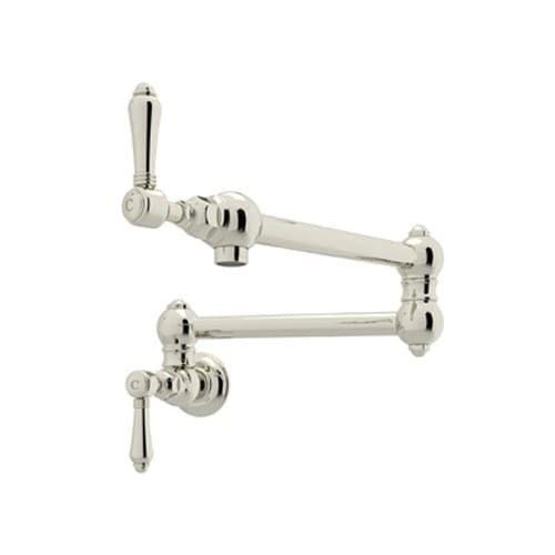 Rohl A1451LMPN-2 POT FILLERS, 24.6-in L x 2.5-in W x 2.5-in H, Polished Nickel
