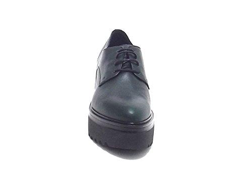 Janet sport donna, articolo 40778, scarpa pelle, verde A7102