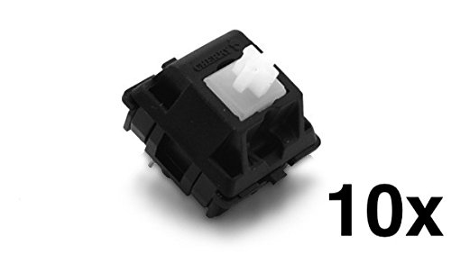 Cherry MX Clear Keyswitch (10 pack) - MX1AC1NN | Plate Mounted | Tactile Bump | by himalayanelixir