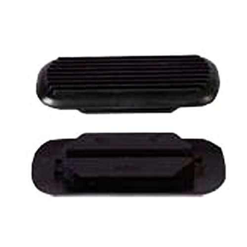 HILASON 4-3/4 INCH Western Rubber Stirrups PAD Black