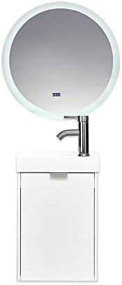 Puluomis 16″ White Wall-Mounted Bathroom Vanity