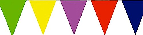 Girlande Fasching Karneval 10 Mtr PE Wimpelkette bunt Dreieck