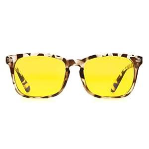 Cyxus Blue Light Glasses for UV Blocking Anti Eyestarin Computer Gaming Reading Eyewear Women Men (Leopard Print Frame)