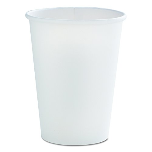 Dopaco 16997 Tall Paper Hot Cup, 12 oz. Capacity, White (Case of 1,000) Dopaco White Paper