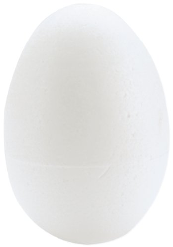 Smoothfoam 6-Pack Egg Crafts Foam for Modeling, 2.5-Inch, White -