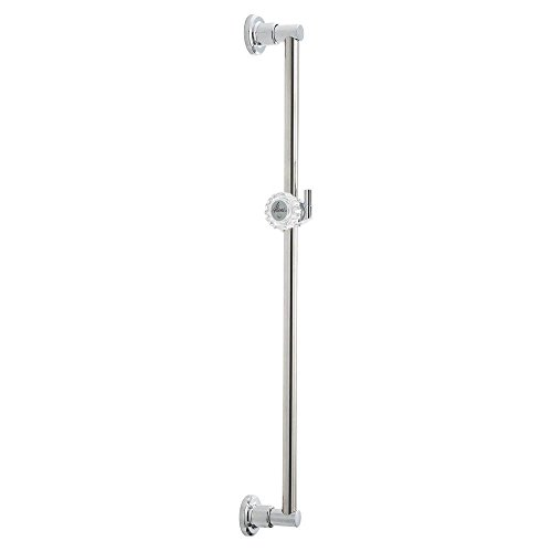 (Delta Faucet 55024 24-Inch Adjustable Pin Mount Wall Bar, Chrome)