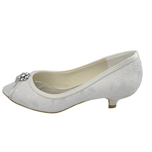 Heel Ivory femme Minitoo pour 4cm Escarpins 0tXq0Ywf