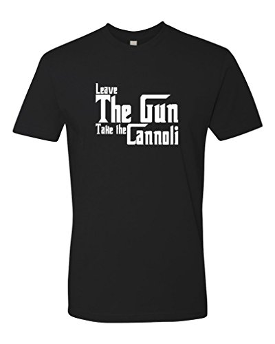 Panoware Men's Godfather Movie Quote T-Shirt | Leave The Gun Take The Cannoli, Black S