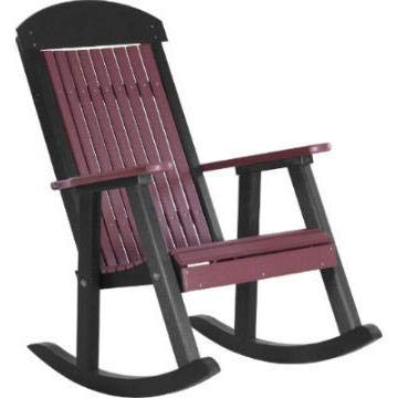 LuxCraft Classic Traditional Recycled Plastic Porch Rocking Chair
