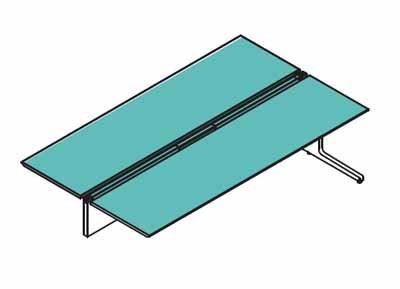 コクヨ レヴィスト デスクシステム フリーアドレステーブル 両面タイプ エンド用 L脚タイプ 幅1000mm 本体色:SAW(ホワイト)/天板色:MB3(ミディアム) B00AT83AOQ