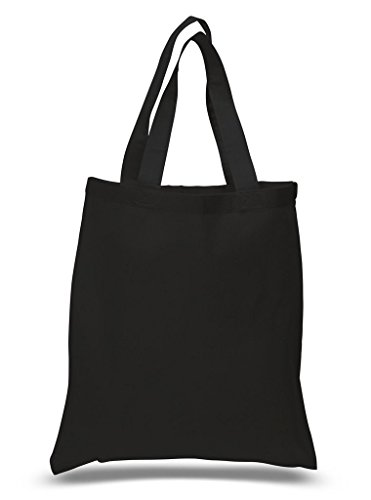 Cotton Budget Tote Bag - Budget Friendly 100% Cotton Reusable Grocery Plain Tote Bags, Art and Crafts Cotton Bags, Wedding Party Gift Bags 15