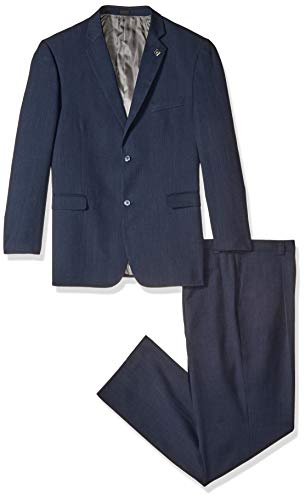 Stacy Adams Men's Big-Tall Suny Vested 3 Piece Suit, Navy, 48 Long