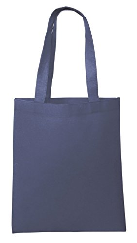 25 PACK – Wholesale Non-Woven Tote Bags, Convention Bags, Promotional Bags, NTB10 (NAVY)