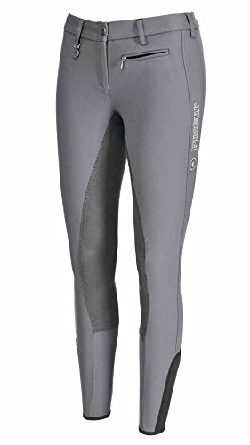 Pikeur SS16 Lucinda Kontrast Breeches [Grey/Dark Grey, 38/UK10] (Pikeur Breeches)