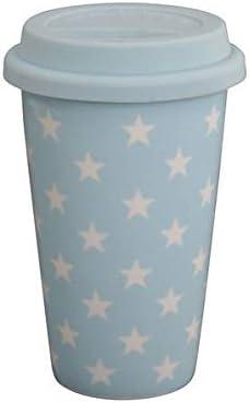 Krasilnikoff - Taza térmica - Taza to go - Estrellas - Azul ...