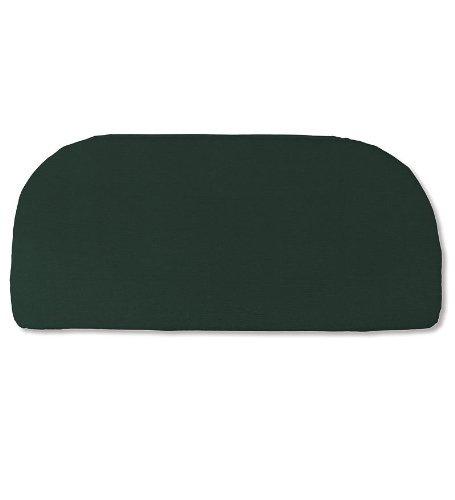 Plow & Hearth Weather Resistant Outdoor Classic Swing and Bench Cushion Polyester Approx. 41 L x 18.75 D x 3 H Forest Green ()