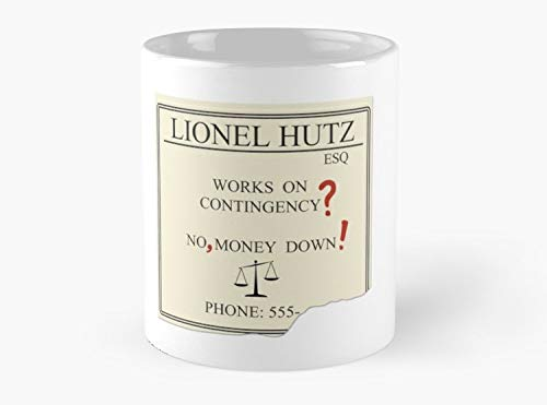 Lionel Hutz - No, money down! Mug, Standard Mug Mug Coffee Mug Tea Mug - 11 oz Premium Quality printed coffee mug - Unique Gifting ideas for Friend/coworker/loved ones (Best Of Lionel Hutz)